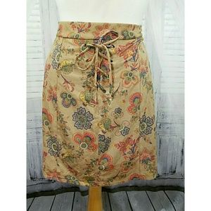 Maurices faux suede patterned skirt